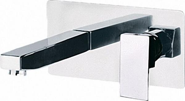 EVENES Wand-Waschtisch-Einhandbatterie Oxy, Skyline chrom mit quadrat. Auslauf 20cm, rechtwinkl. Pla