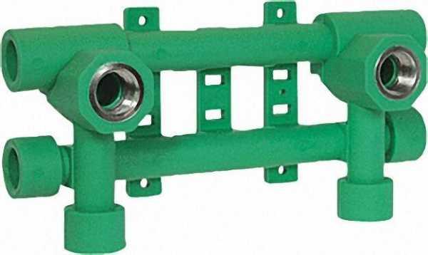PPR Rohr Aqua-Plus Hahn-Fixierungsanlage d = 20mm x 1/2''
