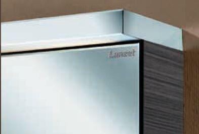 LANZET 7163412 Spiegelschrank 60/60/13, 6 rechts Weiß, L3, 60cm+Ebox