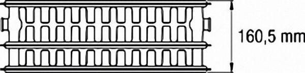 Ventil-Heizkörper mit 6-fach- Anschluss 1/2'' - 33/400/1800 Farbe: RAL 9016