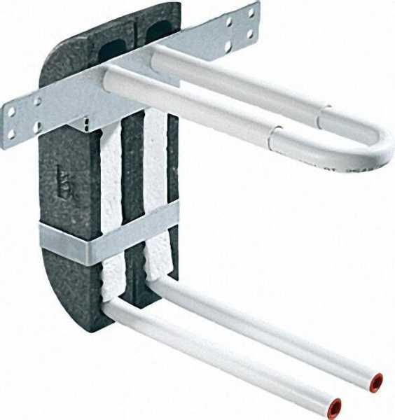 Wandbox aus EPP mit Rohrbogeneinheit aus C-Stahl-Rohr 15x1, 2, Höhe 280mm in U-Form inklusive Isolie