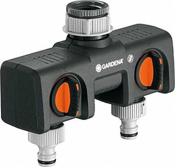 GARDENA 2-Wege-Verteiler zum Betrieb v,2Anschlussgeräten,
