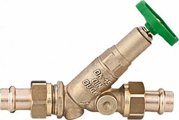 SCHLÖSSER Freistromventil mit Pressverschraubung-Viega DN 15/12mm nichtsteigende Spindel