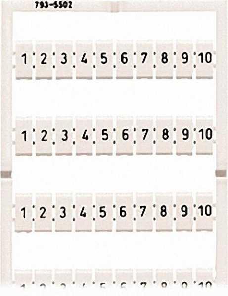 Multibeschriftungssystem 51 bis 100 5 - 5, 2mm / VPE 5 Karten