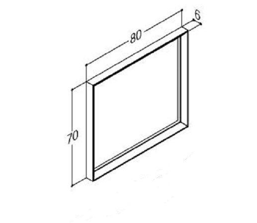 DANSANI 188742001 Rahmenspiegel glatt mit Beleuchtung B- 80 cm