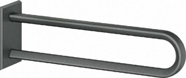 Wandstützgriff Serie Cavere aus Alu., Anthrazit-Metallic 95, Länge 850mm, ohne Montageset