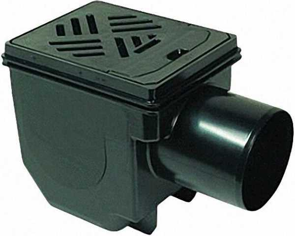 Kessel-Kellerablauf 33101 DN100, Rost 150x190 schwarz