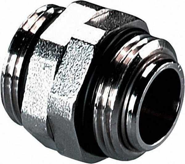 Doppelnippel 6-Kant drehbar 1'' AG x 1'' AG vernickelt