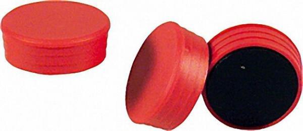 Organisationsmagnete Größe 35 x 14mm Farbe rot, 1 Stück