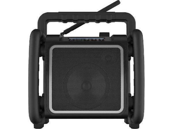 Baustellenradio Teambox mit Akku 1x25,5 W, UKW, DAB+, Bluetooth 4,5kg, 280x310x260mm