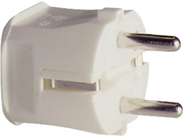 Schutzkontaktstecker weiß, 250V