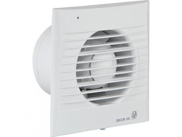 S&P 5210000500 Kleinraumventilator Decor 100 (95 m³/h) flache Blende CZ weiß