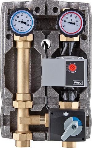 Heizkreisset Easyflow DN 25 mit Isolierung, 3-Wege-Mischer Stellmotor+