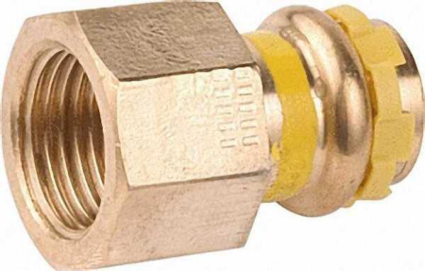Rotguß Pressfitting Gas Übergangs-Muffe mit IG 42x1 1/2 PG 4270G Gas