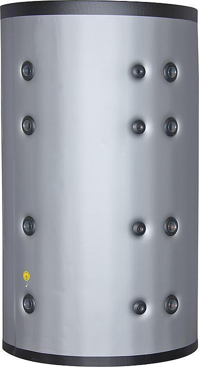 Pufferspeicher ohne Wärmetauscher 1250 Liter mit Isolierung silber