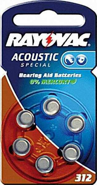 Hörgerätebatterie V312AT 6er Blister