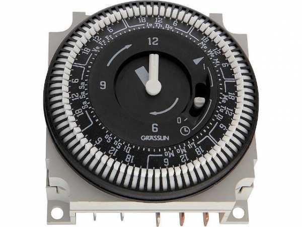 GRÄSSLIN Verteilerschaltuhr FM-1 QRWuZH 230V AC/130V DC