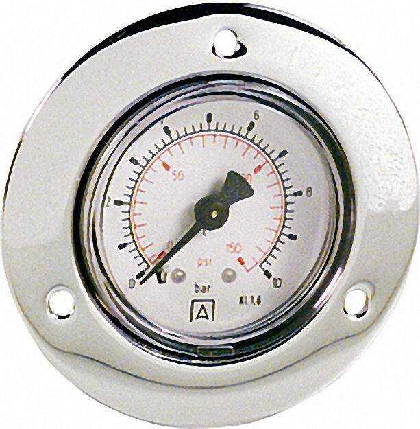 Manometer in Stahlblechgehäuse, 0-10 bar, 40mm für G1/8