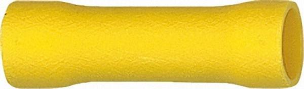 Stoßverbinder isoliert Farbe gelb, 4,0mm²-6,0mm² VPE = 100 Stück