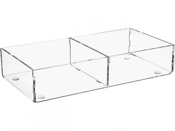 Sortierbox aus Plexiglas transparent 240x120x50mm