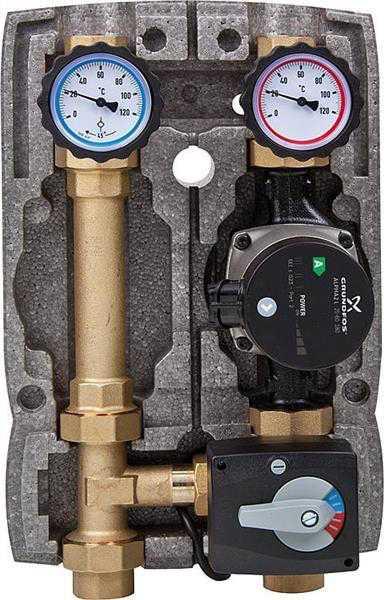 Heizkreisset Easyflow DN25 3-Wegemischer mit Stellmotor, Grundfos UPM3