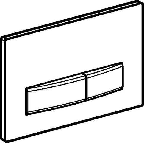 115.788.11.5 Drückerplatte Sigma 50 , 2-Mengen Weiß