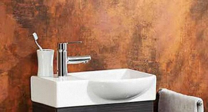 7140012 K3 Gäste-WC Keramik-Waschtisch weiß rechts 45x10,5x32