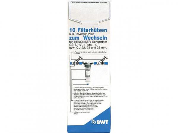Ersatz-Filtervlies 1 1/2''-2'' für Schutzfilter/Universalfilter VPE 10Stück