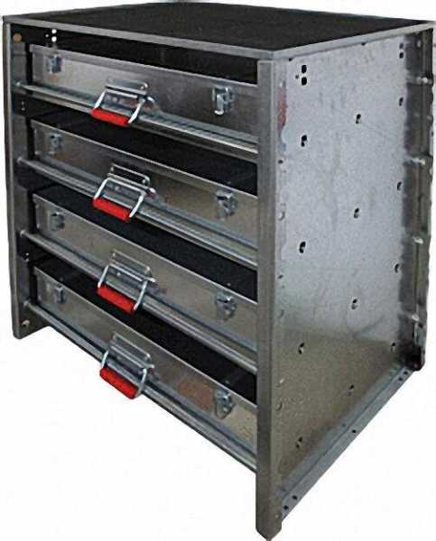 Basismodell (für 4-Koffer) Stahlblech 2mm feuerverzinkt 770 x 660 x 490mm