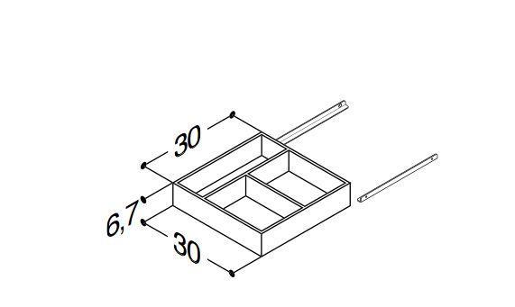 DANSANI 305222016 Kassette mit Gleitschienen B-30cm
