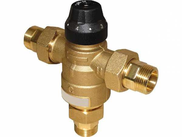 Thermomischer Easyflow Typ 729, DN20, 35-60°C, kv 2,5 Anschlüsse: AG DN20 (3/4')