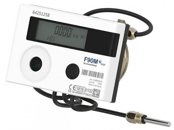 """ELSTER Kapsel-Austauschwärmezähler F90M3 ISTA kompatibel, 2"""" KOAX Durchfluss 0,6m³/h"""