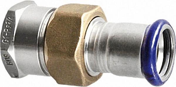 Edelstahl Pressfitting Durchgangsverschraubung, (i/IG), 22mm x 3/4''