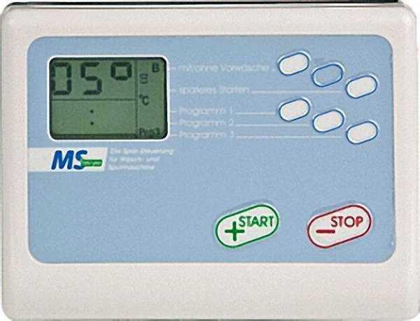 MS 1002 Spar-Steuerung für die Waschmaschine 230V, inklusive Zubehör für Maschinen mit Aqua-Stop