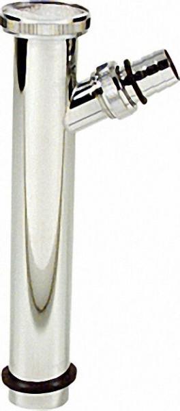 Verstellrohr Messing verchromt 45° 32 x 200mm, mit Verschraubung 3/4''