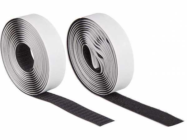 Set Klettband selbstklebend 20 mm schwarz