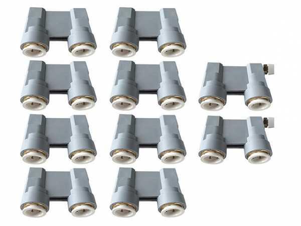 Abdrück-Brücken-Set Stichm.50mm, für 16mm Cu-,C-Stahl-,Edelstahl- u.Kunststoffrohre