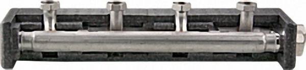 STRAWA Kesselverteiler mit Isolierung thermisch getrennt 4 Heizgruppen Baulänge 1066mm