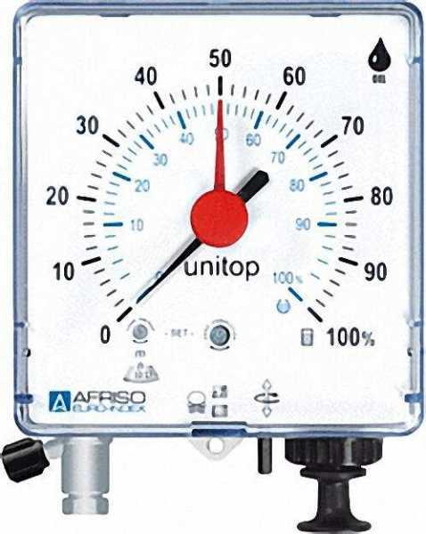 Pneumatisch Füllstandsmeßgerät Unitop zur Fernmessung bis 50m mit Kapselfedermeßwerk