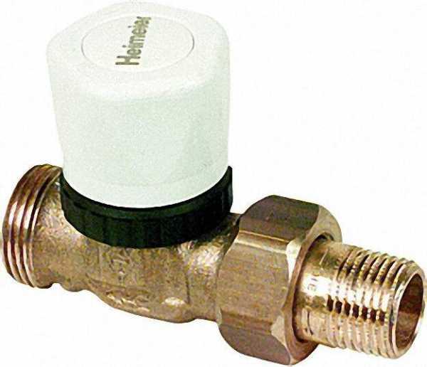 Vorlauf-Regulierventil DN 15 mit Thermostat Oberteil, Anschl. RP 1/2 ohne Handregulierkappe