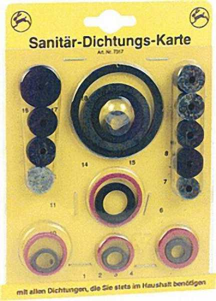 Sanitär-Dichtungskarte