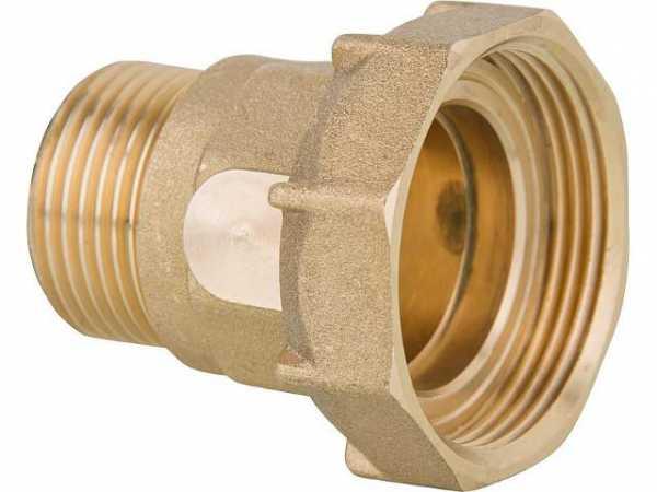 Anschlussverschraubung Messing 11/2'IG x 1'AG flachdichtend für Pumpenanschluss