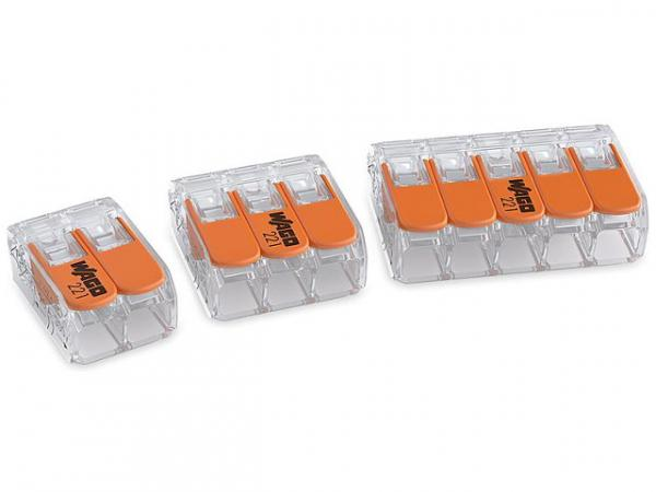 Verbindungsklemmen Wago 6mm² 3-Leiter-Klemme Typ 221-613, VPE 30 Stück