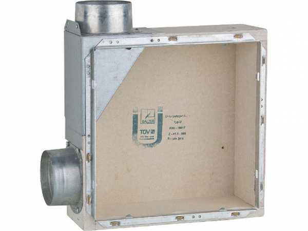 Unterputzgehäuse EVENES Typ UL Zweitraumanschluss links, mit Brandschutz