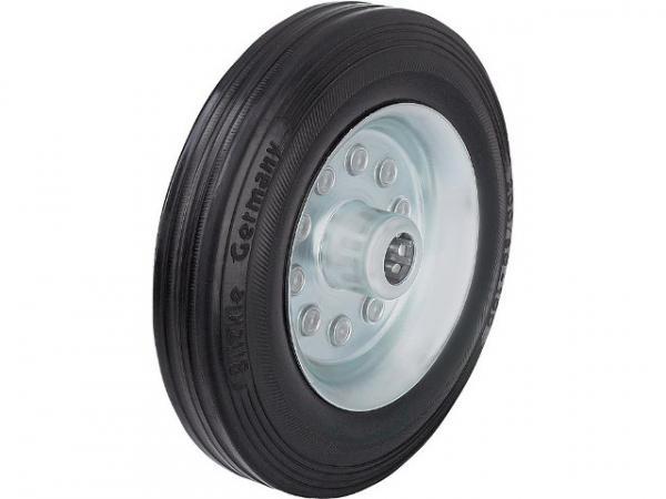 BLICKLE Vollgummireifen mit Stahlblech-Felge VE 160/20R, Tragfähigkeit 135 kg Rad D= 160mm, Achsloch D= 20mm
