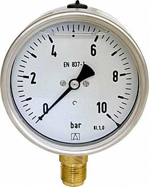 Glyzerinmanomenter, 0-600 bar, 100 mm für G1/2