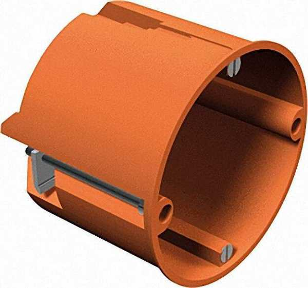 Hohlwand-Geräte-/Verbindungsdose Höhe 61mm, D=68mm Typ HV 60, orange / 1 Stück