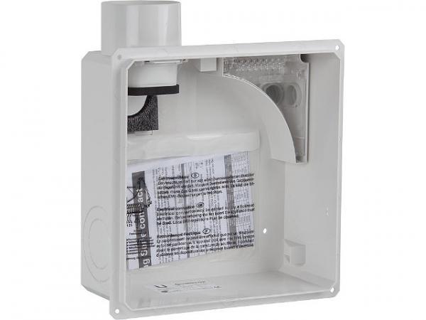 LIMODOR 80200 Unterputzkasten Limodor compact/II-AS Zweitraumanschluss Abluftstutzen DN80 seitlich