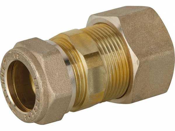 Verschraubung für Spiralrohr DN15x18mm KRV Messing mit Graphit Hochtemepraturdichtung