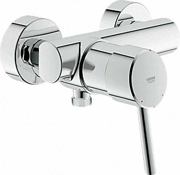 GROHE EH-Brausebatterie 'Concetto' DN 15, Wandmontage Chrom